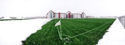 Terme Vivat-football field in winter