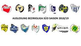 AUSLOSUNG Bezirksliga Süd 2018/19